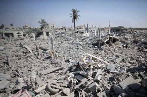 Dans le sud de Gaza, le 1er août. | AP/Khalil Hamra