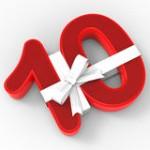 le-numéro-dix-avec-le-ruban-signifie-le-dixième-anniversaire-40234269