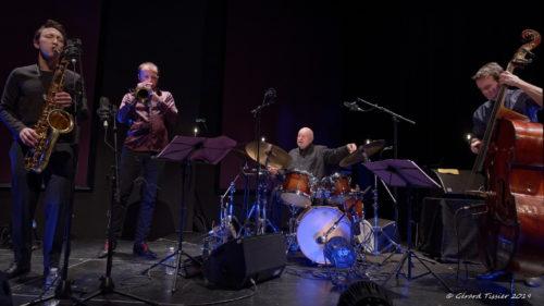 Daniel Humair Quartet à Charlie Jazz, 25/1/2019. © Photo Gérard Tissier. Cliquer pour agrandir.