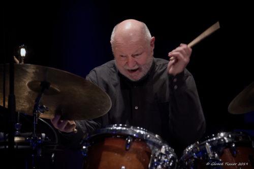 Daniel Humair à Charlie Jazz, 25/1/2019. Photo Gérard Tissier